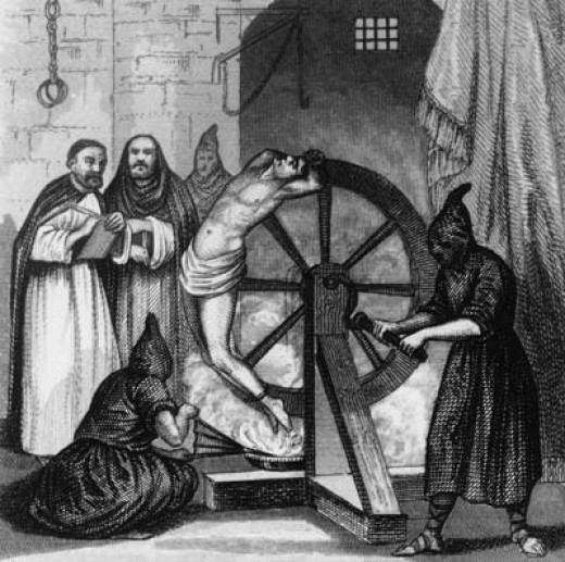 The wheel used by tInquisitors to torture