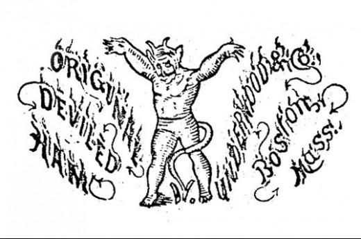 Original 1870 Underwood Deviled Ham Patent Image