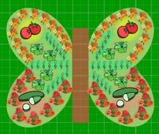kids' butterfly shaped garden