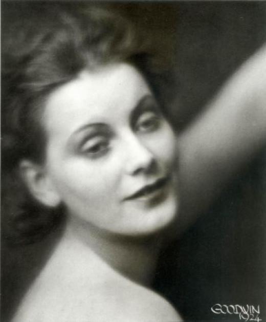 Greta Garbo in a Happier Moment - 1924