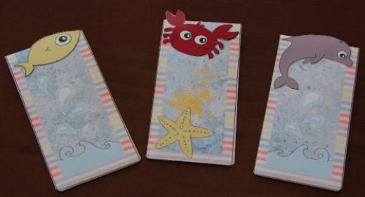 ocean animals magnetic bookmarks