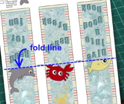 fold line on the magnetic bookmarks