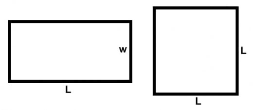 Area of Squares and Rectangles Worksheets