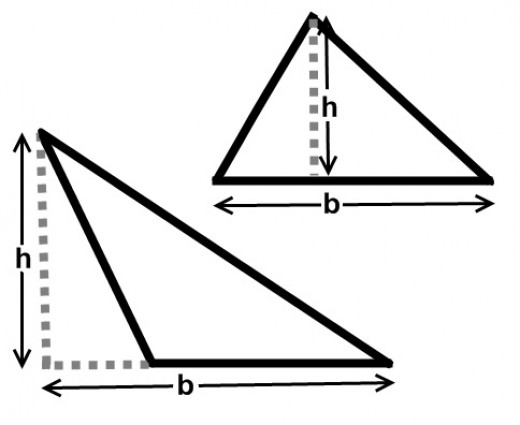 Area of a Triangle Worksheets