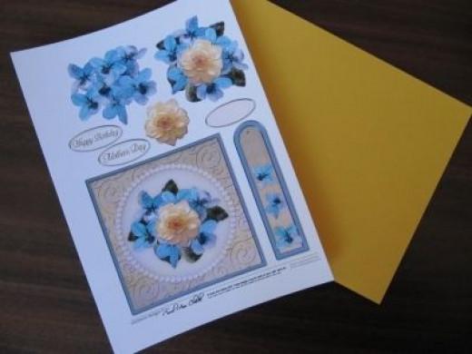 printed decoupage card