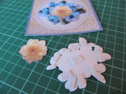 building up the layers in your decoupage card