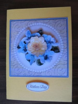 Completing the 3d Decoupage Card