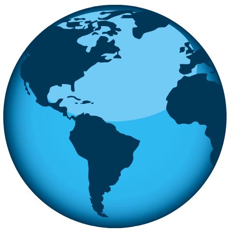 Earth Day clip art -- shiny Earth