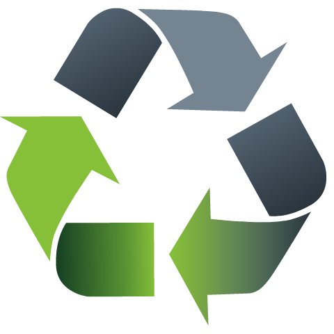 Free Earth Day clip art -- green recycle symbol