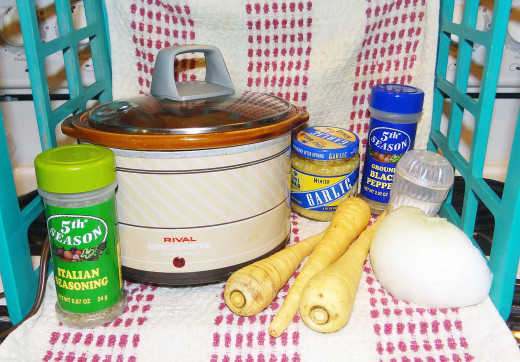 Ingredients - Parsnip and Onion