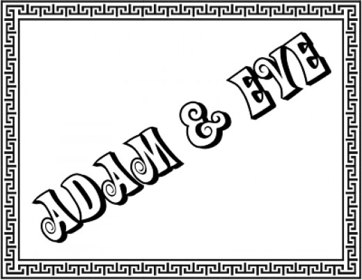Adam and Eve Title Page