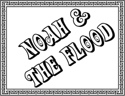 Noah and the Flood Title Page