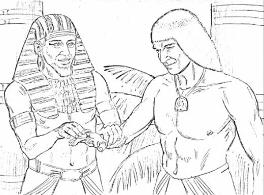 joseph pharaohs dreams coloring pages - photo#16