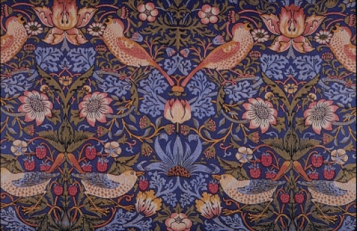 "The ""Strawberry Thief"" Printed Textile Designed by William Morris - 1883"