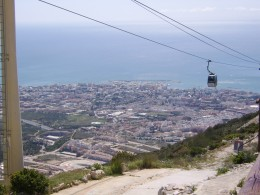 Benalmadena seen from near the top of the Teleferico Cable Car