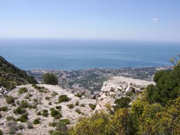 Mediterranean View from Summit of Calamorro Mountain
