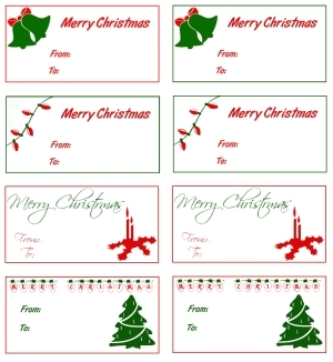 printable christmas gift tags different