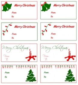 printable christmas gift tags different