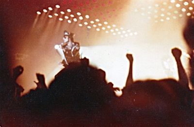 Queen with Freddy Mercury (1946-1991)  at a Concert I Attended. November 1978 (Taken by Author)
