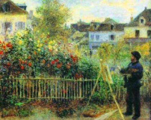 Renoir Monet Painting