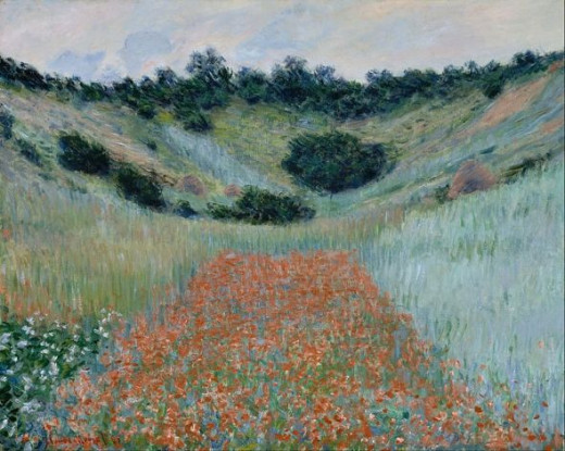 Monet - Poppy Field in a Hollow near Giverny