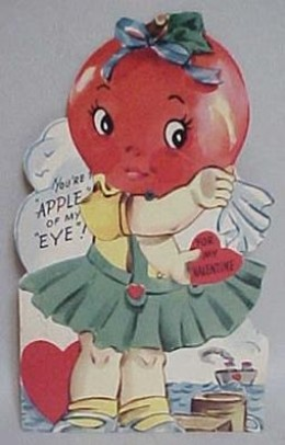 1930's Mechanical Apple Valentine