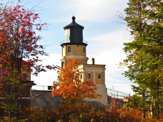 This photo was taken on the grounds of Split Rock Lighthouse.