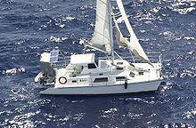 The Kaz II drifting off Queensland