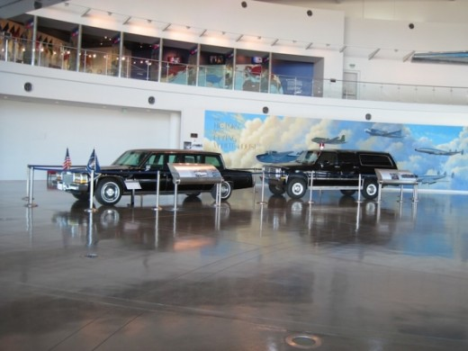 This is the display of the presidential motorcade. The 1984 Cadillac Limousine was first used in Reagan's hometown of Dixon for a celebration of his 73rd birthday. He was the first president to use this then state of the art vehicle. I was surprised