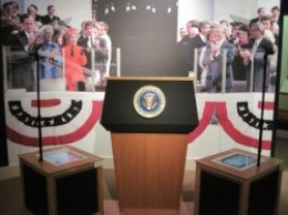 Presidential Podium at the Ronald Reagan Presidential Library