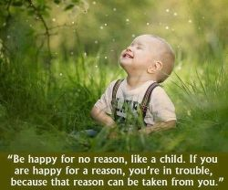 Be happy for no reason