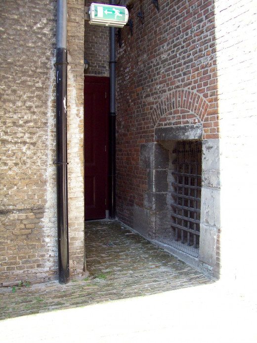 The port to hell, torture and execution room at De Gevangenpoort in The Hague, the Netherlands, Catharina le Chasseur went through this door before she was executed