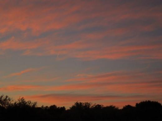 Scene 3, sunset setting.