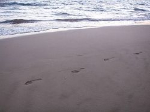 Long Beach footprints
