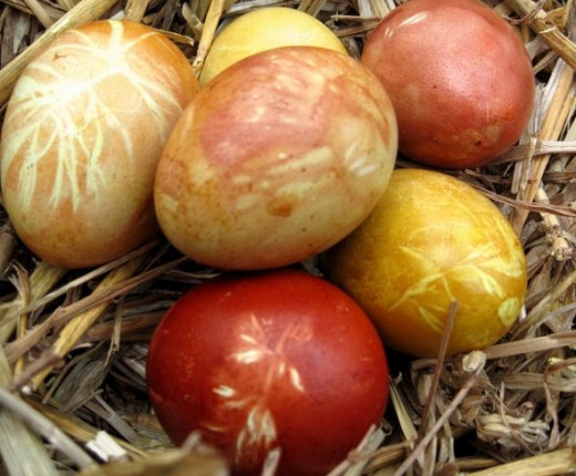 Naturally Dyed Eggs by Somewhereintheworldtoday