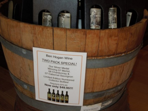 I used the flash for this shot inside the Veris/ Ben Hogan tasting room. I was given permission to have the labels with images and trademarks in the pictures.
