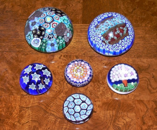 Murano Glass Millefiori Paperweights