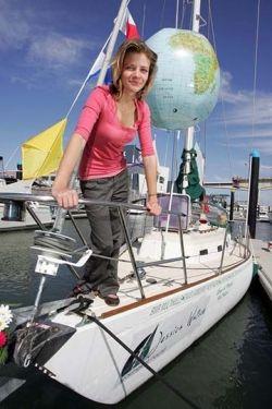 Jess on her Yacht