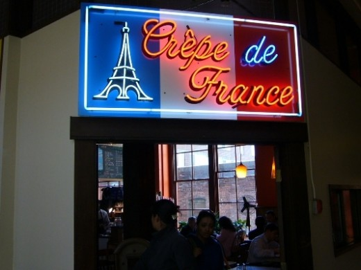 If you feel like going to a French Restaurant, there is Crepe de France.