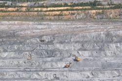 Open cut asbestos mine