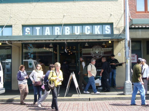 Flagship Starbucks Coffee Shop at the Pike Place Market