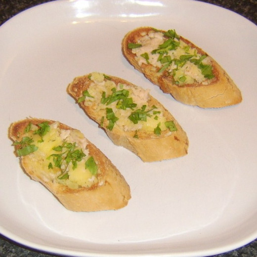 Rainbow Trout Herb Butter on Toast