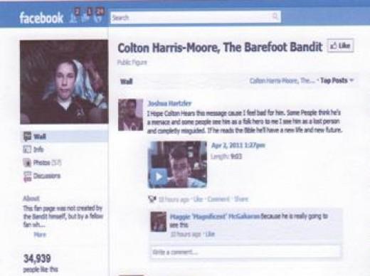 Colton Harris Moore Facebook Page