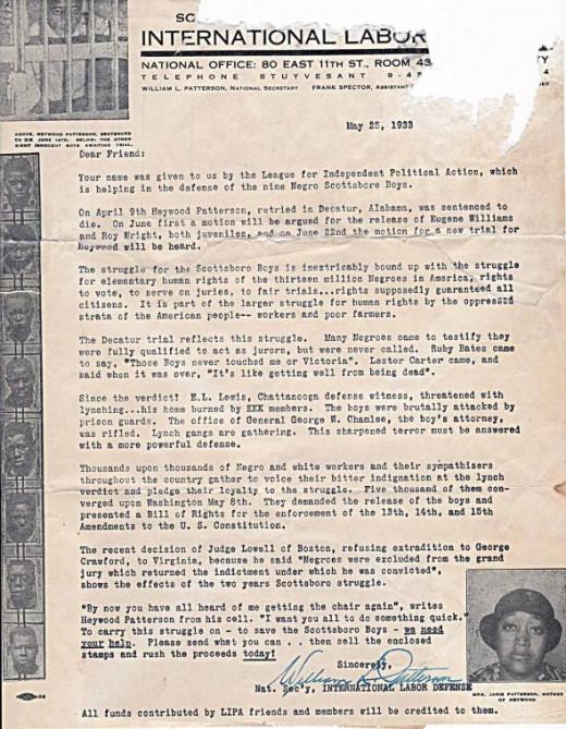 Scottsboro Boys Letter