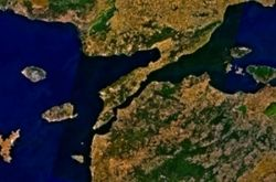 Gallipoli peninsula from space