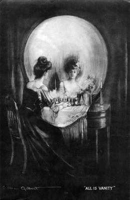 """Charles Allan Gilbert's """"All is Vanity"""" may have captured his philosophy about vanity in this double-entendre image that has circulated the globe for more than a century. (Public domain.)"""