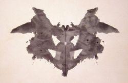 Public domain image of a Rorschach inkblot