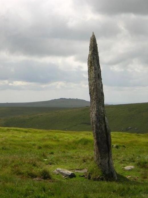 Beardown Man, prehistoric menhir on Dartmoor