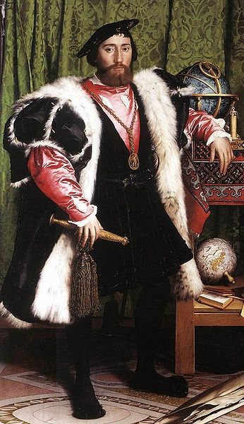 The ambassador as he was portrayed in Hans Holbein's painting, The Ambassadors.