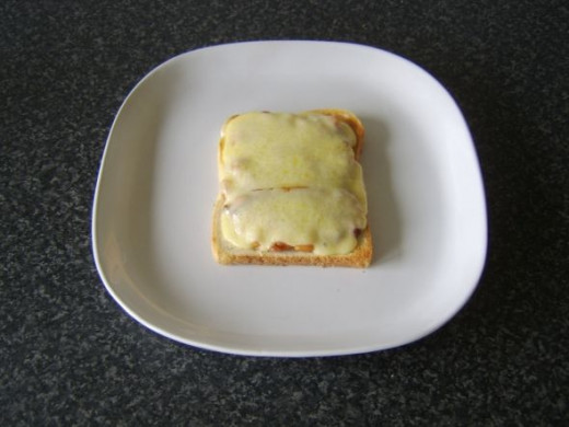 Toastie is cooked until cheese is melted and bubbling